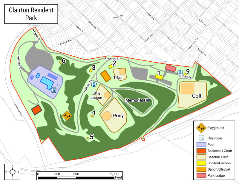Clairton-Resident-Park-Map
